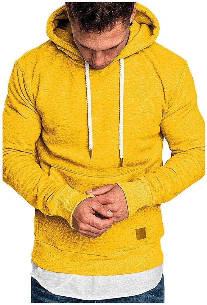 HONGJ Hoodies for Mens, Fall Fashion Athletic Casual Drawstring Slim Fit Workout Sports Lightweight Hooded Sweatshirts
