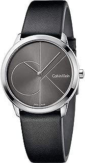 Calvin Klein Womens Analogue Quartz Watch with Leather Strap K3M221C3