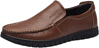 Dress Shoes, Short Boots Casual Shoes Platform Heels Slip Mens Shoes Vintage Waterproof Without Laces Low Top Slip-On in B...