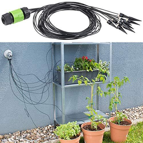 Royal Gardineer Bewässerungsspitzen: Mikro-Bewässerungssystem mit 10 Bewässerungs-Spitzen für Pflanzen (Garten-Bewässerung Tropf-System)