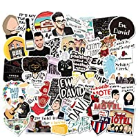 Quantity: 50PCS different laptop Schitt's Cre_ek stickers meet your need. Enough for you to choose High quality: The particular pattern comedy TV show stickers for Adults are made of vinyl, Making it waterproof, sun protection and anti-resistant. Eas...