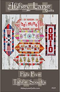 Abbey Lane Quilts Fab Five Table Snacks Ptrn