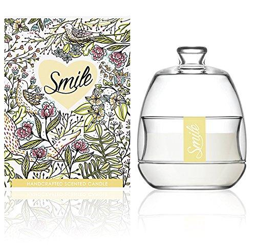 We Love Home Candela profumata di cera 100% vegetale con profumo di limone e lime modello Smile Apothecarium
