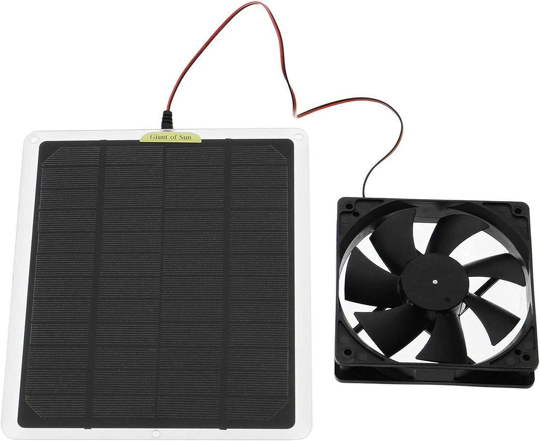 zlw-shop Panel fotovoltaico de 6 Pulgadas Powered Extracción Ventilador Mini Ventilador Luz Solar Generación de energía Ventilador de Escape for Perro Casa de Pollo Invernadero RV Fanático del Coche