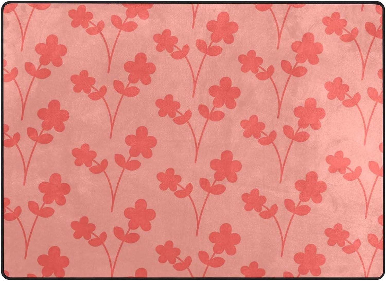 FAJRO Red Tiny Flowers Background Polyester Entry Way Doormat Area Rug Multipattern Door Mat Floor Mats shoes Scraper Home Dec Anti-Slip Indoor Outdoor