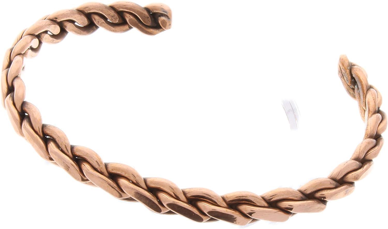 Max 77% OFF HHH Copper Cuff Bracelet for Durable Women Men - Tucson Mall Adjustable