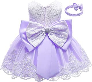 baby dress with violets