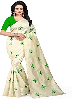 6b82b5a0026c96 Effigy onlinehub Women's Cotton Silk Saree With Blouse Piece (Butterfly,  Cotton)