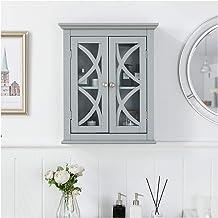 Glitzhome 1001003544 bathroom cabinet, Gray