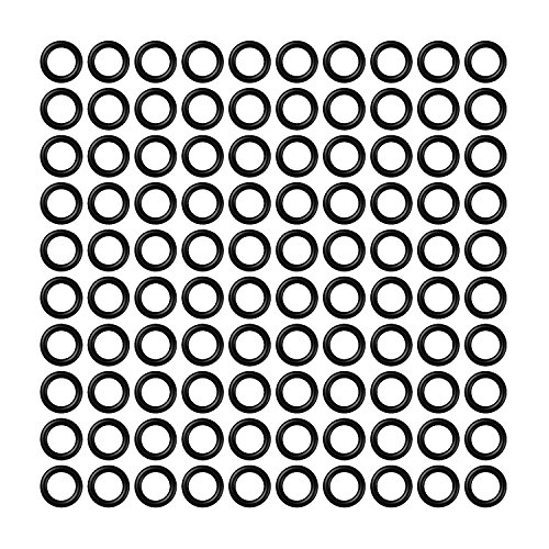 CyeeLife-Dart Gummiringe|100Stück Gummiringe|2BA Aluminium Welle Antiskid Dart Gummiringe O Rings Unterlegscheiben