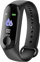 ساعة تعقب اللياقة البدنية الذكية M3 مقاومة للماء مع شاشة لعرض ضغط الدم ومعدل ضربات القلب للنساء والرجال قياس واحد