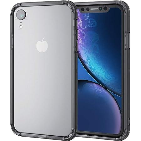 エレコム iPhone XR ケース 衝撃吸収 TRANTECT ハイブリッド バンパー 【iPhoneを美しく守る。】 ブラック PM-A18CHVBBK