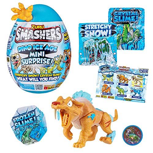ZURU SMASHERS- Smashers Mini œuf Surprise Dino Age de Glace, 7456B, Egg