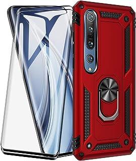 XIFAN Funda para Xiaomi Mi 10 Pro 5G/Mi 10 5G + [2 Pack] Vidrio Templado, [Funciona con El Montaje De Coche Magnético] Def...