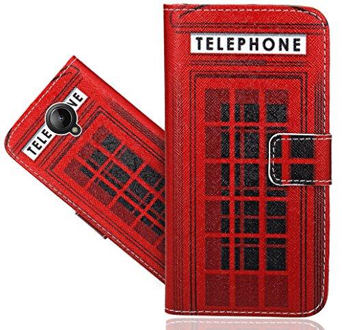 FoneExpert® Lenovo Vibe C2 Handy Tasche, Wallet Hülle Flip Cover Hüllen Etui Hülle Ledertasche Lederhülle Schutzhülle Für Lenovo Vibe C2