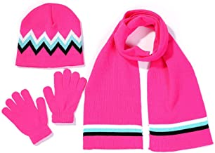 روسری و دستکش مخصوص کودکان WW.A.K کودکان و نوجوانان ، پیراهن Pompom Beanie ، بافتنی و دستکش را با هم اندازه می کنند (بیشتر به رنگ ها مراجعه کنید)