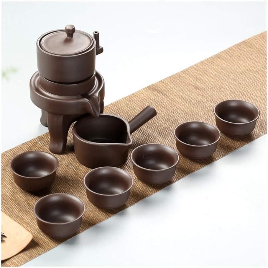 Halfautomatische Thee Theeservies Thee Originative Lazy Thick Rock Pottery Tea (Kleur: 2