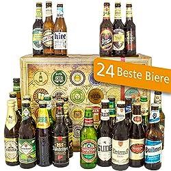 24x Biere der Welt + Deutschland / Geburtstag Geschenk / Mann Geschenkset