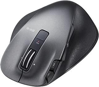 エレコム マウス ワイヤレス (レシーバー付属) Lサイズ 8ボタン レーザー 握りの極み ブラック M-XGL20DLBK