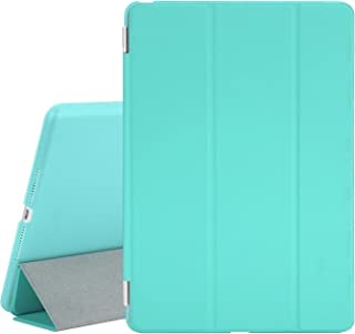 TKOOFN Case for New iPad 2017 iPad 9.7 Inch, Ultra Slim Lightweight Smart Case Cover Stand with Translucent Frosted Hard Plactic Back Cover for iPad 5th/6th Generation[Auto Sleep/Wake],Light Blue