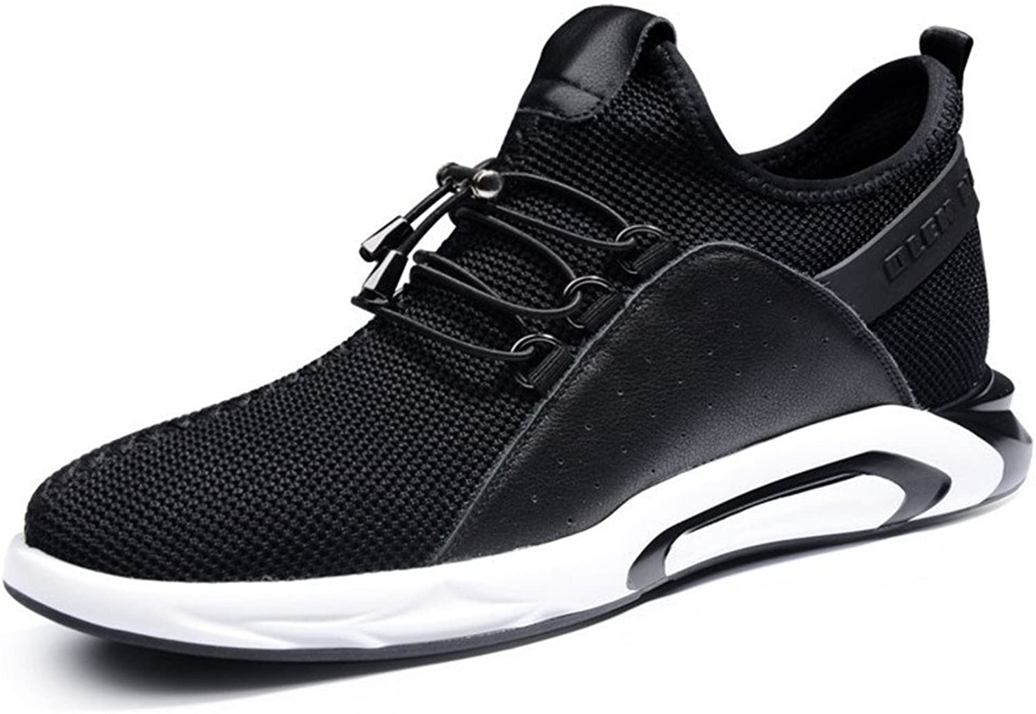 GOG Fashion Men's Mesh Sports shoes Running Sneakers Height Increasing 2.36 inches Black