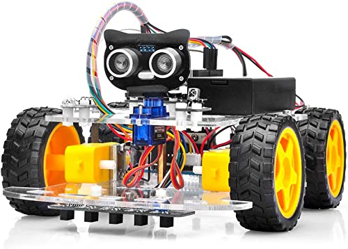 OSOYOO Robot Car Starter Kit for Arduino   STEM Remote Controlled Educational Motorized Robotics for Building Program...