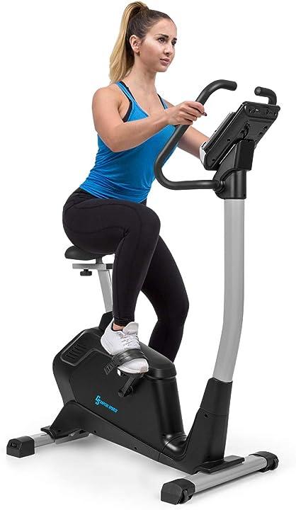 Cyclette capital sports a resistenza magnetica kinomap: bluetooth-feedback - cardiobike FITN7-90300-zght