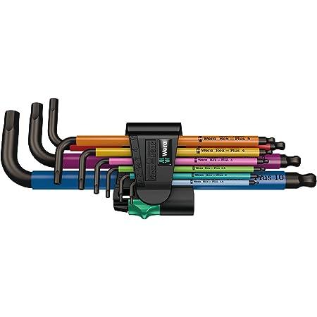 950 Spkl 9 Sm N Multicolour Winkelschlüsselsatz Metrisch Blacklaser 9 Teilig Wera 05022089001 Baumarkt