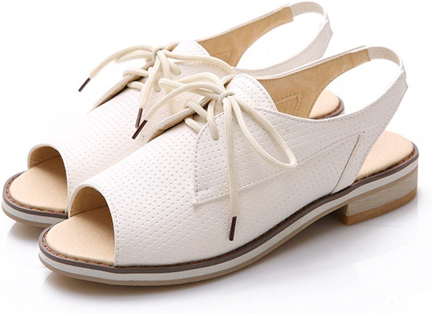 YU&Xin-The Korean Version of Fashion Woman shoes Fish Mouth Flat Stylish Sandals Students.