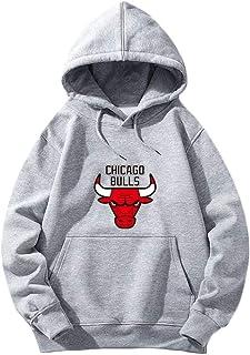 5XL A1 M/änner Hoodies Zum Chicago-Bulls 3D Drucken Bulls-Fan Pullover//Zip Sommer Beil/äufig Sweatshirts Jacke Lose