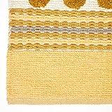 Homescapes moderner Chenille Teppich Läufer grau senfgelb 66 x 200 cm Circles & Stripes Küchenläufer - 8