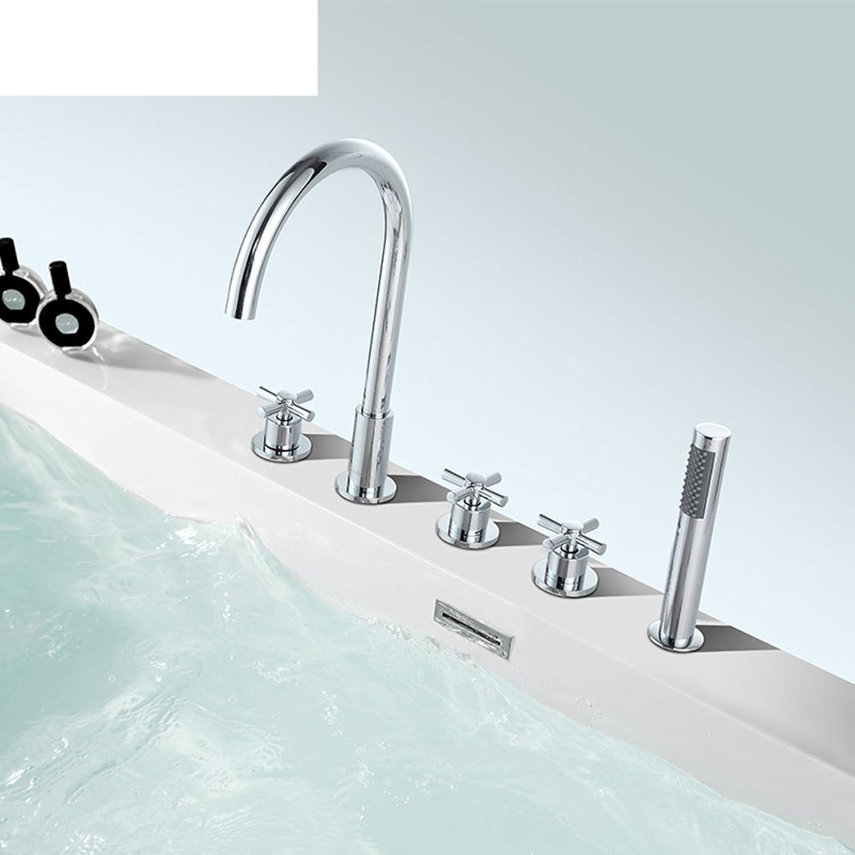 Badarmaturen PCs Badewanne split Quintett Wasserhahn Kupfer Badewanne Wasserhahn-A