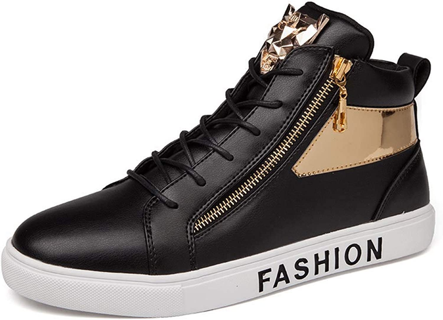 GLSHI Men High Top Sneakers 2018 Autumn New Casual Flat shoes Street Personality Lightweight Trainers