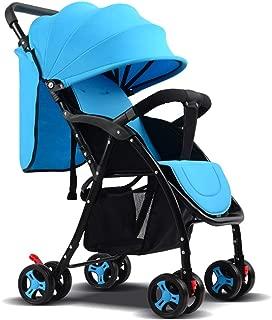 Boys Stroller Pushchair, Lightweight Pram Folding Pushchair One Step Design for Opening and Folding Travel System Baby Stroller Buggy Sun Shade, Blue