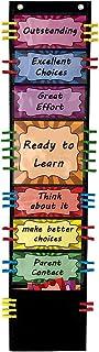 VNOM Student Behavior Clip Charts for Classroom Management Kids Reward Pocket Chart Behavior Bulletin Board Teacher Supplies for Preschool Kindergarten Daycare Homeschool