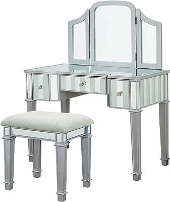 Cream Jackson Vanity Linon 58037CRM-01-KD-U Set 30 x 36 x 18,