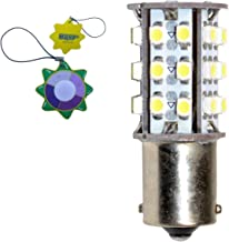 HQRP BA15s Bayonet Base 30 LEDs SMD LED Bulb White for #93, 1141, 1156, 1073, 1093, 1129 Replacement + HQRP UV Tester