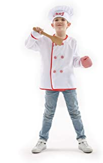 Kids Chef Role Play Costume Dress-Up Set with Accessories Boy's Chef Costume - Size for 3-7 Years Old