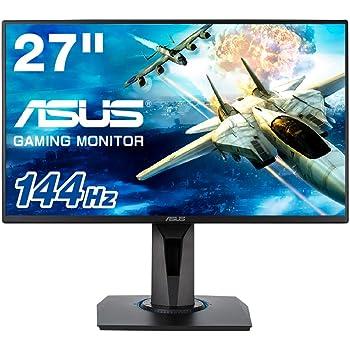 ASUS ゲーミングモニター 27インチ VG278Q (1ms/144HZ/HDMI/DP/DVI/スリムベゼル/G-SYNC™対応/FreeSync対応/フリッカーフリー/昇降ピボット/VESA)