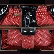 Custom Car Floor Mats Fit for BMW 5 Series F10 F11 G30 520i 525i 528i 530i 535i 540i 550i 520d 530d 2011-2013 Full Coverage All Weather Protection Waterproof Non-slip Leather Liner Set Red Wine