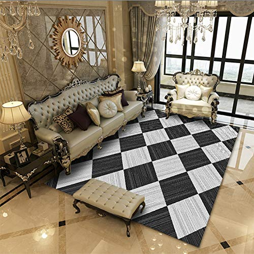QWEASDZX Carpet Living Room Bedroom Carpet Non-Slip Soft Carpet Modern Carpet Mat Multifunctional Carpet 60x90cm