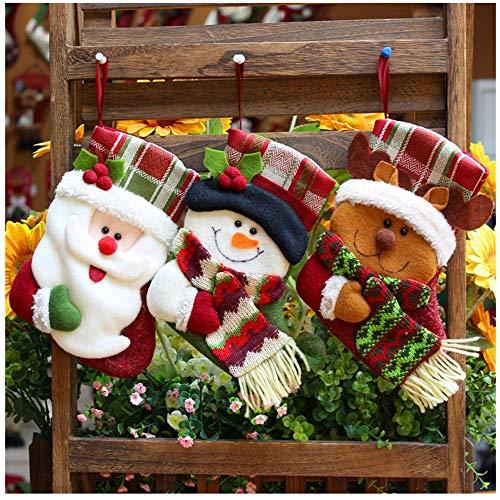 Fenverk Filz-Nikolausstiefel zum Befüllen und Aufhängen -Strumpf - Grün mit weihnachtlicher Stickerei/Nikolaus deko/Heitmann Deco/nikolausschuh/Candy Geschenktüte