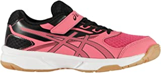 Official Brand Asics Upcourt 2 Indoor Court Shoes Juniors Boys Red/Black Sneakers Kids Footwear