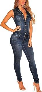 86851f2c1003a7 Amazon.fr : combinaison en jean femme - Combinaisons et combishorts ...