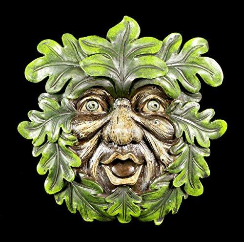 Waldgeist Wandrelief - Laubbläser   Garten Figur Gesicht Baum Deko Schmuck