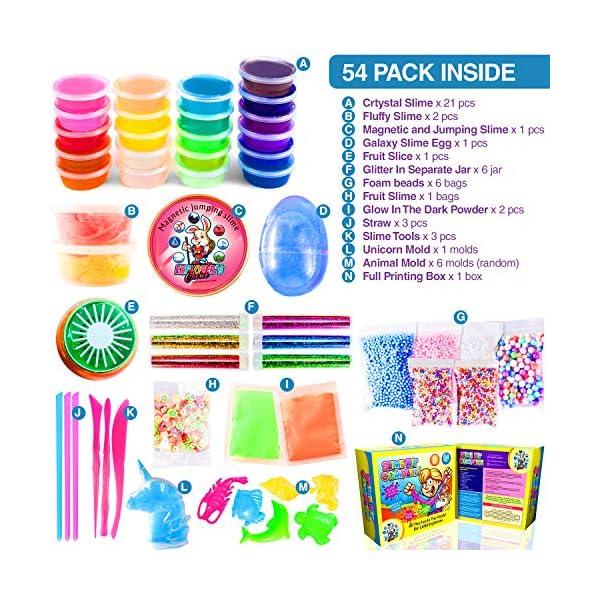 Slime Kit for Girls Complete - Super Fun Girls Toys - Jumping Slime - DIY Big Slime Kit - 21 Color Crystal Slime… 4