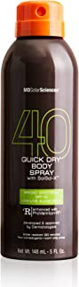 MDSolarSciences Quick Dry Body Spray SPF 40 - Non-Greasy, Fast-Drying Sunscreen Provides 80 Minutes of Water-Resistant Bro...