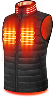 Men's 90% Down Heated Vest, Lightweight with Neck Warmer, with Battery Pack