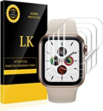 [4 Pack] LK for Apple Watch Screen Protector 40mm 38mm (Series 6/5/4/3/2/1 Compatible), Bubble-Free Max Coverage HD Clear ...