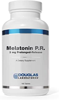 Douglas Laboratories - Melatonin P.R. - 3 mg Prolonged-Release Melatonin Supports Sleep/Wake Cycles - 180 Tablets
